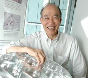 Bob Lin with RHESSI instrument.
